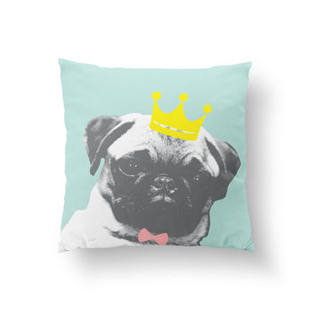 Pug Pillow, Kids Pillow, Home Decor, Cushion Cover, Throw Pillow, Bedroom Decor, Bed Pillow, Decorative Pillow,Nursery Decor, Dog Pillow