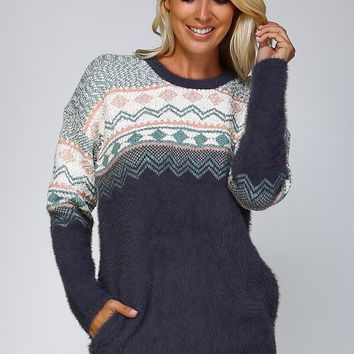 Cozy Day Sweater - Charcoal