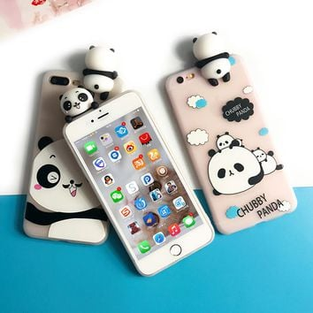 Kawaii 3D Panda Phone Case