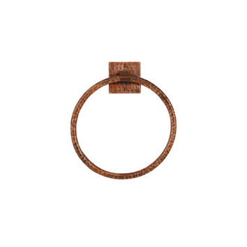 Premier Copper Products TR10DB Hand Hammered Copper 10-Inch Full Size Bath Towel Ring