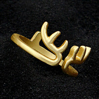 Golden Open Deer Ring
