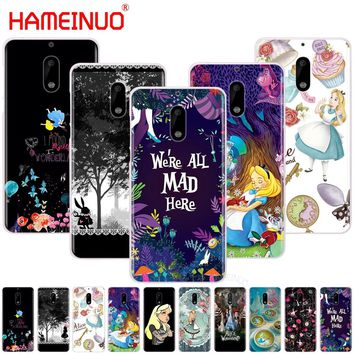 92d98747fe9 HAMEINUO Alice in Wonderland cover phone case for Nokia 9 8 7 6 5 3 Lumia