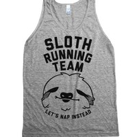 Sloth Running Team (Tank)-Unisex Athletic Grey Tank
