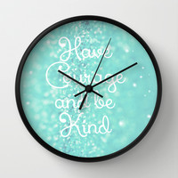 Have Courage Wall Clock by Beth - Paper Angels Photography