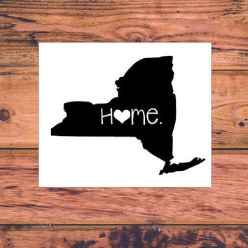 New York Home Decal | New York Decal | Homestate Decals | Love Sticker | Love Decal  | Car Decal | Car Stickers | 072