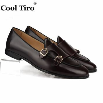 Cool Tiro Polished Leather Double-Monk Loafers