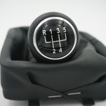 free Shipping For 2002-2008 Volkswagen Polo 9N / 9N3 IV V 5-speed Gear Shift Knob Gaitor Boot Black V0025