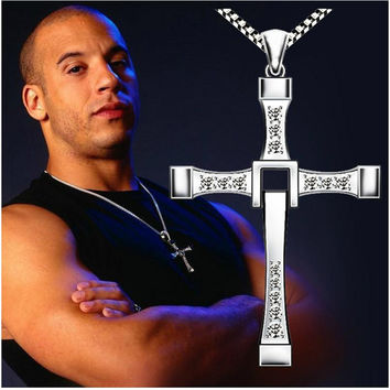 Classic Men's Rosary Necklaces & Pendants Cross Necklace Charms Fast Furious Toretto Cross Women Necklace Men Jewelry NEC01