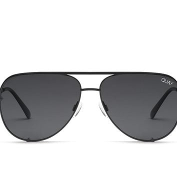 Quay Desi Perkins #QUAYXDESI High Key Mini Black Sunglasses / Smoke Lenses