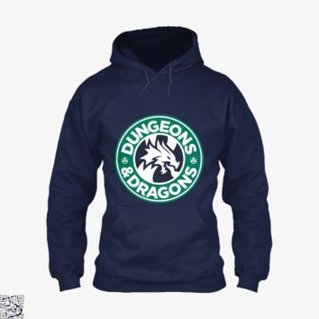 Starbucks Parody Mashup, Dragon And Dungeon Hoodie