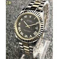 Rolex Hot Sale Women Men Chic Movement Business Couple Watch Wristwatch 2#