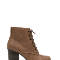 Lace-Up 'N Go Faux Leather Booties