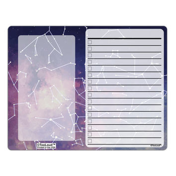 Constellations Color All Over To Do Shopping List Dry Erase Board All Over Print