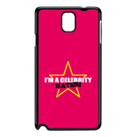 Celebrity Hater Black Hard Plastic Case for Galaxy Note 3 by Chargrilled