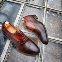 Mr Duke Mens Hand Dyed Oxford Shoes