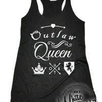 OUAT Inspired Outlaw Queen Tank Top Once Upon A Time