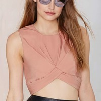 Nasty Gal Knot in Love Crop Top