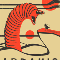 Visit Arrakis Art Print by Jazzberry Blue