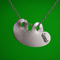 Movember Happy Sloth Necklace