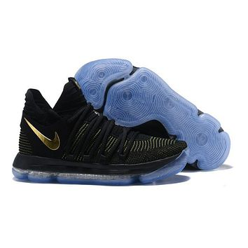 Nike Mens Kevin Durant Kd 10 Black/yellow Basketball Shoes | Best Deal Online