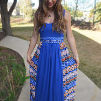 Make Your Move Maxi Dress - Royal Blue