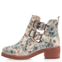 ADONIS2 Heavy Cut Out Boots - Flat Boots - Boots  - Shoes