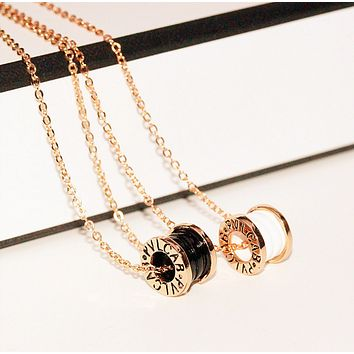 Rose gold diamond necklace simple necklace women 's environmental necklace