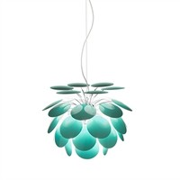 Discoco Suspended Light, Turquoise