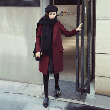 Korean Women's Fashion Autumn Coat Slim Jacket [9375062090]