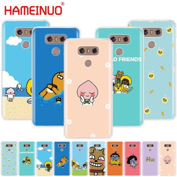 HAMEINUO  kakao talk friends case phone cover for LG G7 Q6 G6 MINI G5 K10 K4 K8 2017 2016 X POWER 2 V20 V30 2018