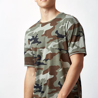 PacSun Shosh Camouflage Layered Extended Length T-Shirt at PacSun.com