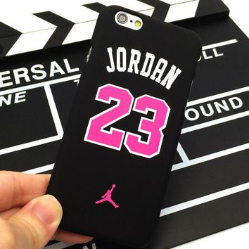 HOT Sale Cool Frosted PC Painted Jumpman Airman Basketball Jordan 23 Phone Case for iP