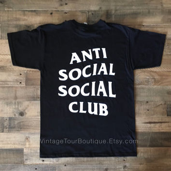 Anti Social Social Club Black Tee Shirt ASSC Kanye West T-Shirt