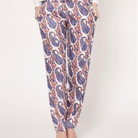 Tantra Printed Pants - Fashion Ensemble: Blue & White Outfit by Tantra - Modnique.com