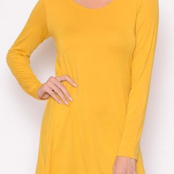 Keep It Simple Tunic - Mustard