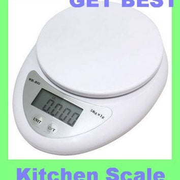 WEIHENG  Kitchen scales 5000g/1g 5kg Food Diet Postal Kitchen Digital Scale balance Measuring weighing scales  LED electronic