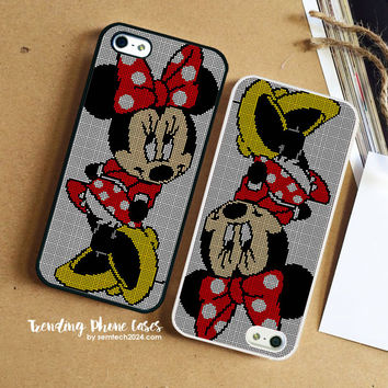 Minnie Mouse Perler Bead iPhone Case Cover for iPhone 6 6 Plus 5s 5 5c 4s 4 Case