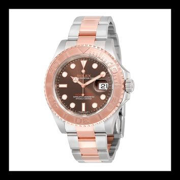 Rolex Yacht-Master Chocolate Dial Steel and 18K Everose Gold Oyster Mens Watch 116621CHSO