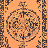 Twin Brown Celtic Knot Mirror Wall Tapestry, Indian Tapestry Throw Bedding on RoyalFurnish.com