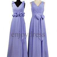 Custom Lavender Long Bridesmaid Dresses 2014 Simple Prom Dresses Wedding Party Dresses Party Dress Evening Gowns Fashion Evening Dresses