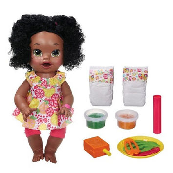 Baby Alive Interactive Talking Baby SUPER SNACKS SNACKIN' Doll African American