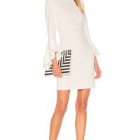 Alice + Olivia Dora Dress in Off White | REVOLVE