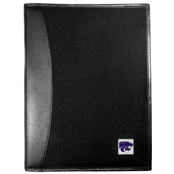 Kansas St. Wildcats Leather and Canvas Padfolio CPAD15