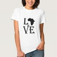 Love Africa Continent Tshirt
