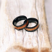 Black Koa Wood Ring