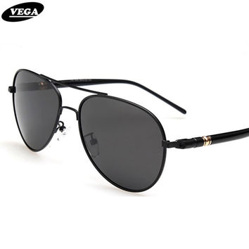 VEGA Classic Aviator Sunglasses Polarized  Authentic Navy Air Force Sunglasses Men Women Pilot Glasses Flat Top Frame 209
