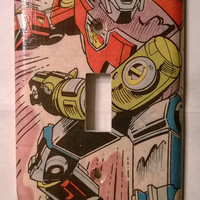 Voltron comic book light switch cover