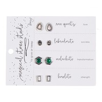 Magical Stone Stud Earrings Set