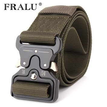 FRALU 2017 Hot Mens Tactical Belt Military Nylon Belt Outdoor multifunctional Training Belt High Quality Strap ceintures