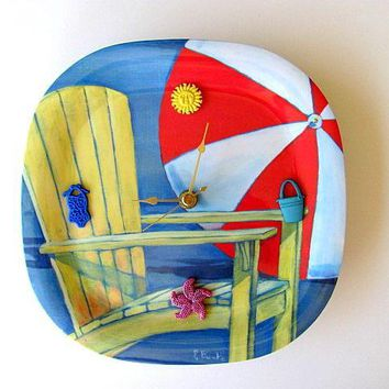 A Day at The Beach Clock FREE US Shipping